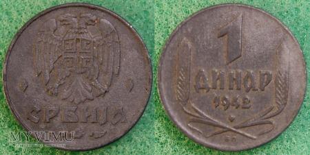 Serbia, 1 dinar 1942