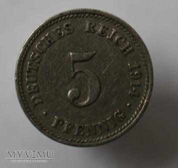 5 pfennig 1914