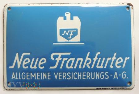 Blacha emaliowana, ubezpieczenie Neue Frankfurter