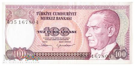 Turcja - 100 lir (1989)
