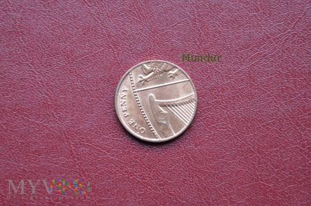 Moneta brytyjska: 1 penny 2014