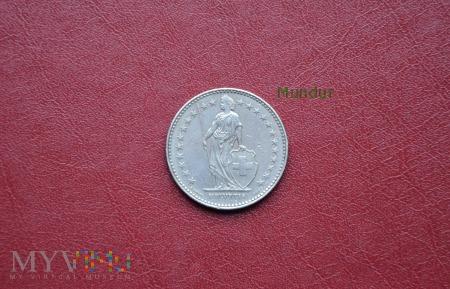 Moneta szwajcarska: 2 Fr.