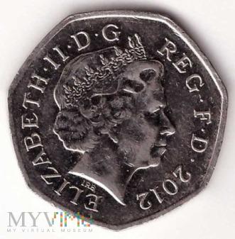 Wielka Brytania, 50 pence 2012