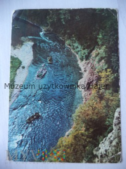 PIENINY Nurt Dunajca w zakręcie rzeki - widok z