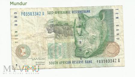 Banknot południowoafrykański: 10 rand