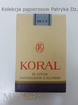 Papierosy KORAL 1982 rok. Poznań ( 2 )