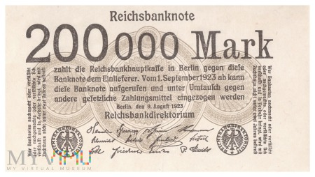 Niemcy - 200 000 marek (1923)