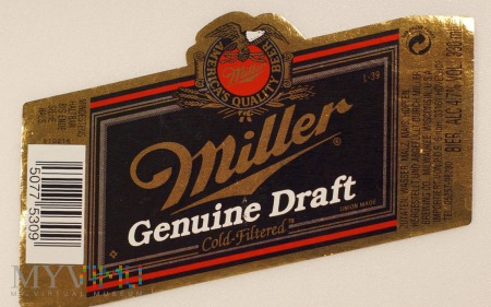 Miller, Genuine Draft