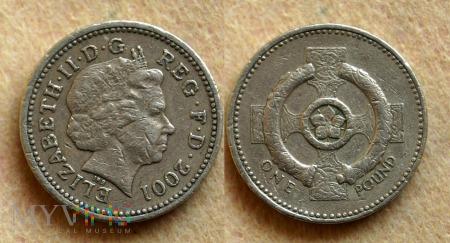 Wielka Brytania, 1 POUND 2001
