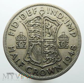 1/2 korony 1948 Jerzy VI Half Crown