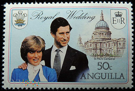 Anguilla 50c Księżna Diana i Książę Karol