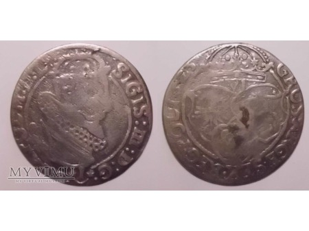 1625 szóstak koronny Zygmunt III Waza Kopicki 1262