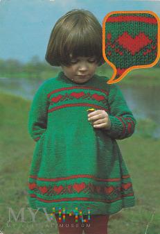 Sukienka z dwubarwnym wzorem żakardowym na 6 - 7 l