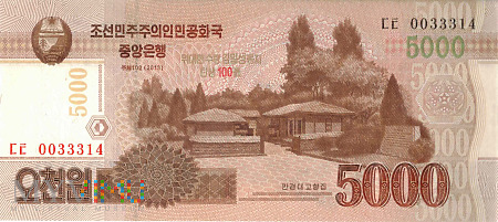 Korea Północna - 5 000 wonów (2013)