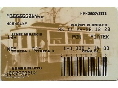 Bilet MPK Kraków 14