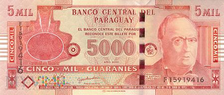 Paragwaj - 5 000 guarani (2010)