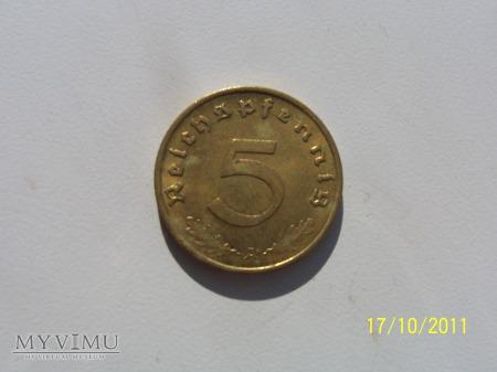 5 REICHSPFENNIG 1939 - MENNICA A - Berlin