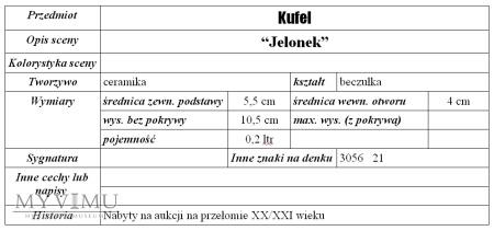 "Kufel ""Jelonek"""