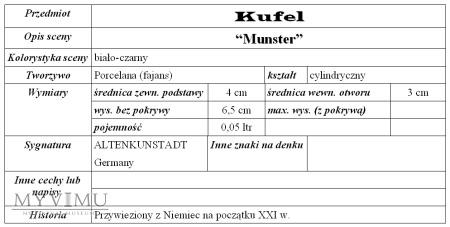 """Kufel """"Munster"""""""