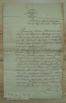 Duże zdjęcie kontrakt sprzedaży i kupna, rok 1847