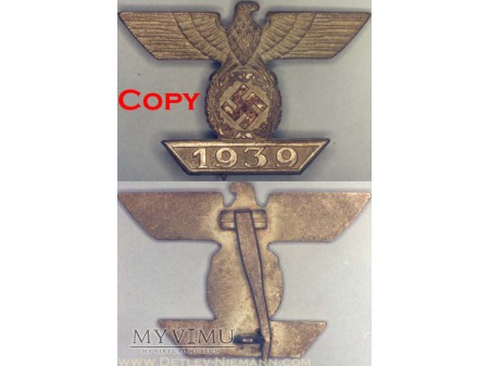 1939 Szpanga do Krzyża Żelaznego 1 Klasy 1914