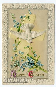 1909 John Winsch Wielkanoc Gołąbek niezapominajki