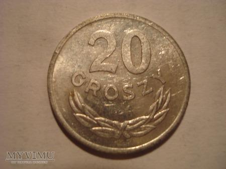 20 groszówki PRL zbiór 21szt.