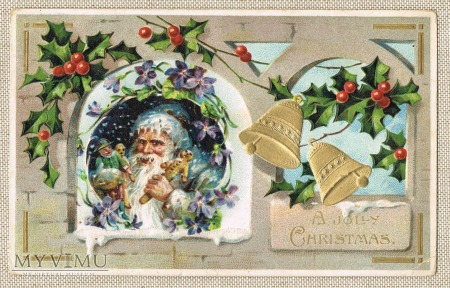 1909 Santa Claus in Blue with Toys