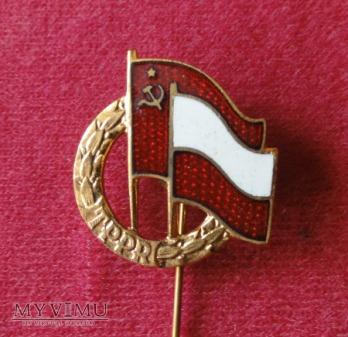 komunistyczne odznaki z Leninem
