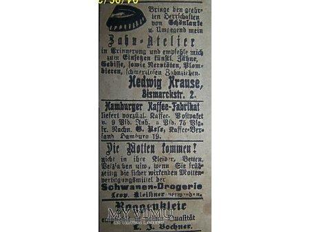 Reklama z gazety.