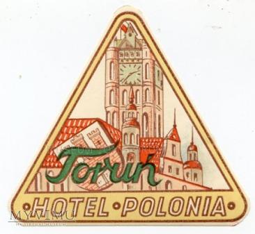 Duże zdjęcie Naklejka hotelowa - Toruń - Hotel Polonia