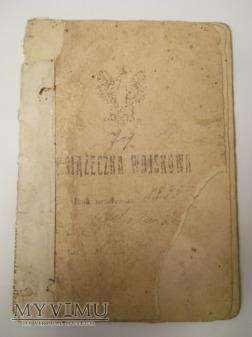 Książeczka wojskowa 9 DAK 1921'