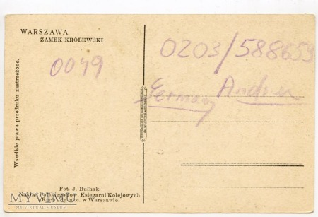 W-wa - Zamek - od południa - 1920-1930
