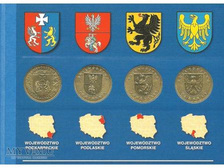 2 złotówki z herbami województw.