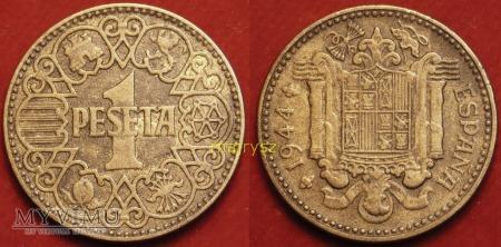 Hiszpania, 1 PESETA 1944