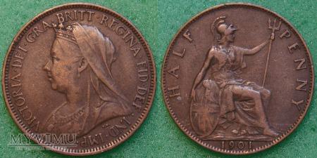 Wielka Brytania, half penny 1901