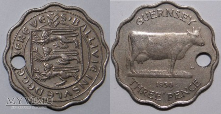 Guernsey, Three Pence 1956