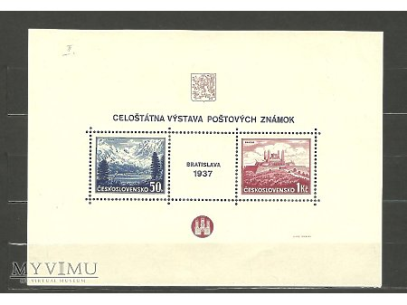 Czechosłowackie bloki z lat 1937 , 1938 i 1946 .