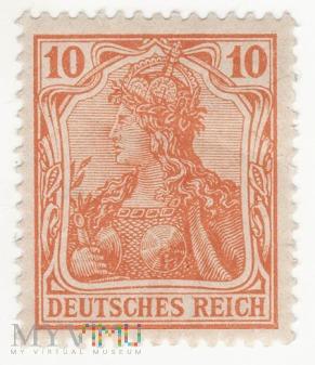 Znaczek Germania 10 Pf Deutsches Reich