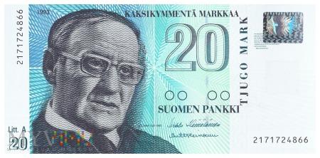 Finlandia - 20 marek (1993)