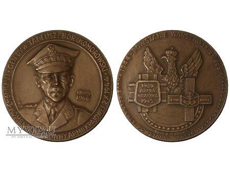 Duże zdjęcie Gen. Tadeusz Bór-Komorowski Bydgoszcz medal 1989