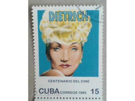 Marlene Dietrich Kuba Cuba 1995 znaczek