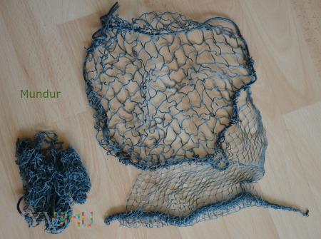 Siatka maskująca na hełm koloru niebieskiego