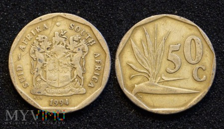 South Africa, 50 cents 1994