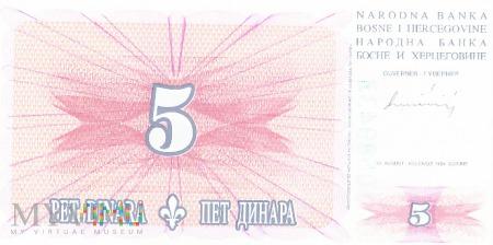 Bośnia i Hercegowina - 5 dinarów (1994)