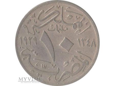 10 milliemes 1929 rok