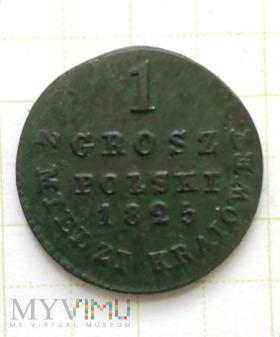 1 grosz polski z miedzi kraiowey 1825