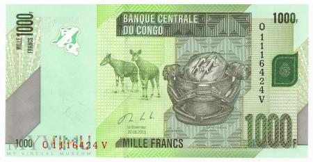 D.R. Konga - 1 000 franków (2013)