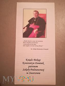 Folder o ks. Dominiku patronie szkoły w Swarzewie