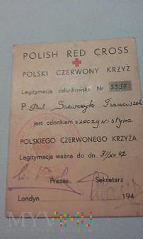 Legitymacja PCK-Pełnomocnika PSZ na Zachodzie